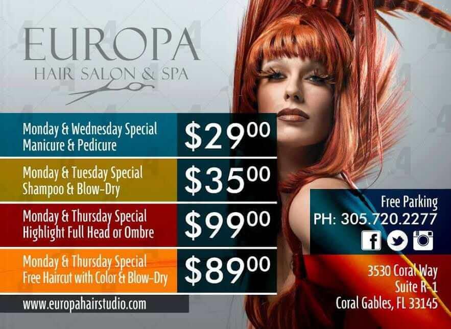 Miami Hair Salon Discounts Hair Salon Specials